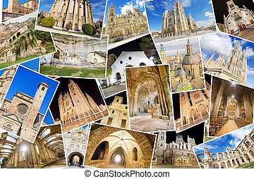A collage of my best photos of churchs, monasterys and ...