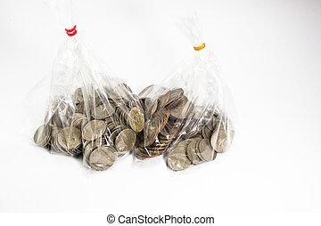 a, collection, de, diverses monnaies, depuis, pays, globe