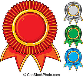 a collection of awards icon colored