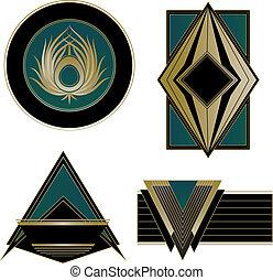 Art Deco Logos and Design Elements