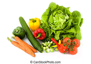 Fresh vegetables - A collection of Fresh vegetables