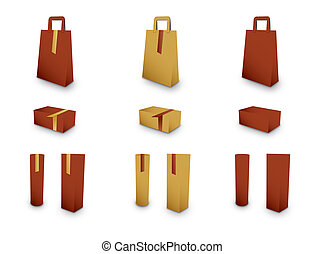 A collection of gift packaging - Collection for presentation...