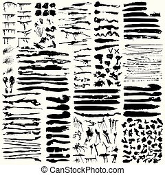 a collection of ink strokes for your design