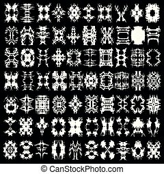 a collection of monochrome abstract isolated symbols for your design