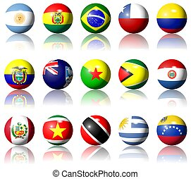 South American flags - A collection of South American flags...