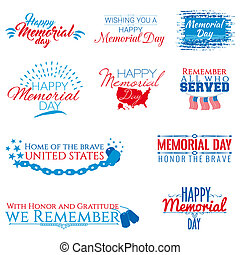 Memorial day - A collection of ten banners on Memorial day
