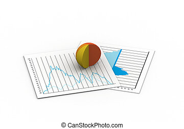 A colorful 3d pie chart graph