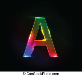 A colorful alphabet