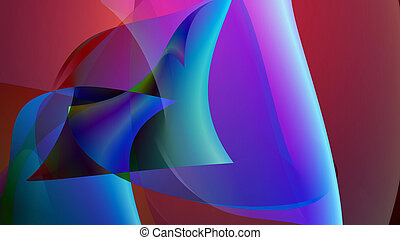 A colorful background with bendy shapes in a foreground.