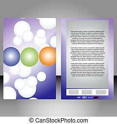 booklet - a colorful booklet for advertising with abstract...