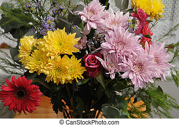 A colorful bouquet of flowers