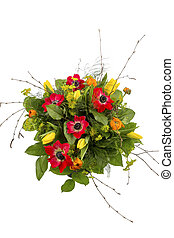 bouquet of spring flowers - a colorful bouquet of spring...
