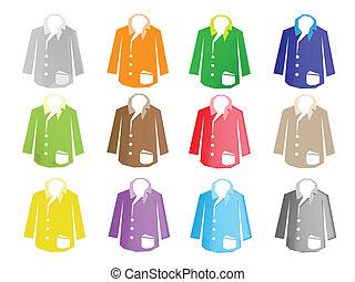 A Colorful Illustration Set of Jacket Suit