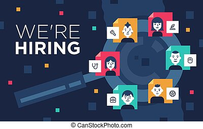 A colorful illustration which informs that the company is looking to hire