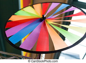 colorful ribbon wheel