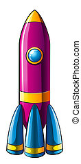 A colorful rocket - Illustration of a colorful rocket on a...