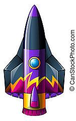 A colorful rocket