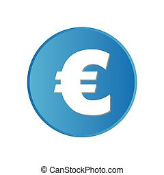 Colorful square buttons for website or app - Euro Sign