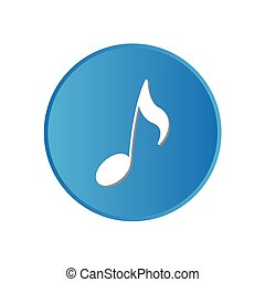 Colorful square buttons for website or app - Musical Note