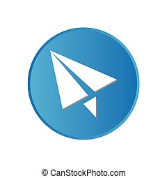 Colorful square buttons for website or app - Paper Aeroplane