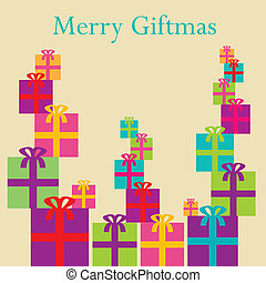 A colorful whimsical Christmas back