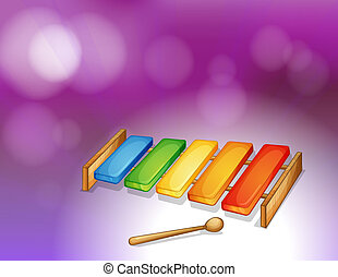 A colorful xylophone