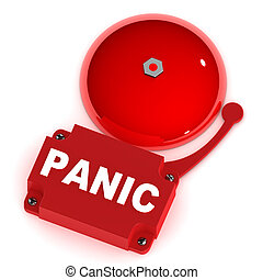 Panic Alarm Bell - A Colourful 3d Rendered Panic Alarm Bell