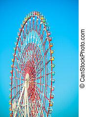 A colourful ferris wheel