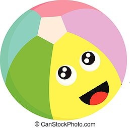 A colourful football vector or color illustration