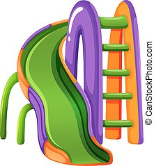 A colourful slide at the park - Illustration of a colourful...