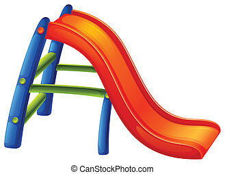 A colourful slide - Illustration of a colourful slide on a...