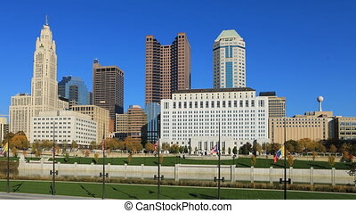 Columbus, Ohio timelapse of the skyline - A Columbus, Ohio...