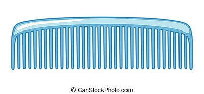 A comb on white background