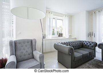 A comfortable armchair in living room