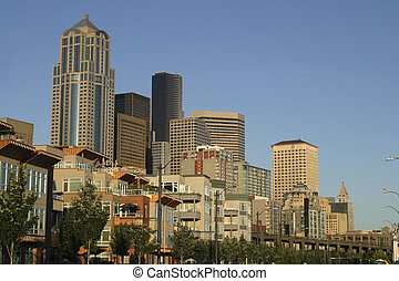 commercial skyline - a commercial skyline in Seattle