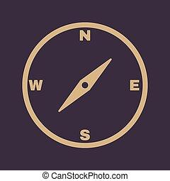 a, compasso, icon., compasso, símbolo