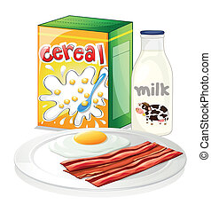 A complete breakfast meal - Illustration of a complete ...