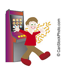 slot machine - a computer generated illustration about slot...
