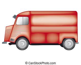 van - a computer generated illustration about van