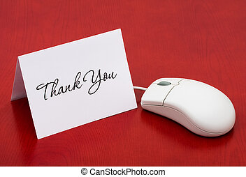 Thank You for your online purchase - A computer mouse with a...