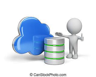 a, conceito, de, armazenamento de dados