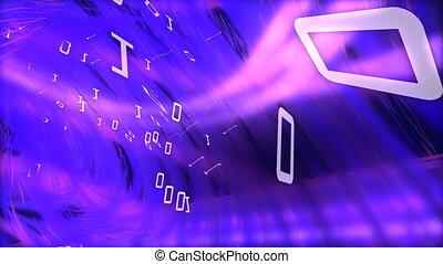 a, conceito, de, mundo digital, em, hd