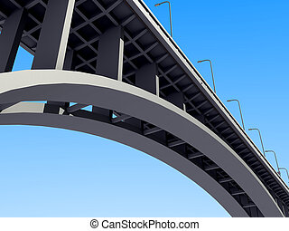 concrete arch bridge - A concrete arch bridge against the...