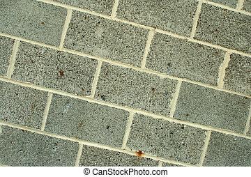 Concrete block wall background