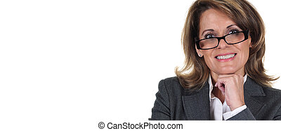 Confident Mature Business Woman