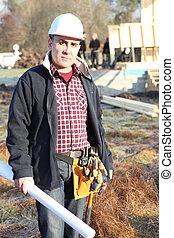 A construction foreman