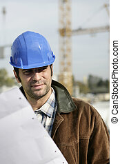 A construction foreman