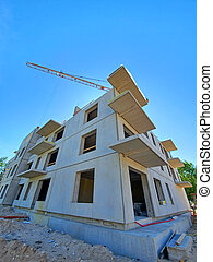 a construction of a house