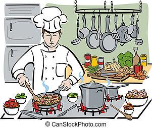 a, consume, cozinheiro
