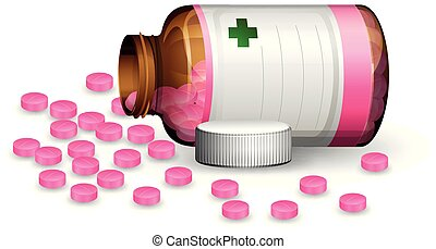 A Container of pill
